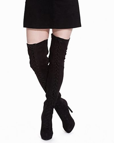 Högklackade Lace up Thigh High Boot från Nly Shoes