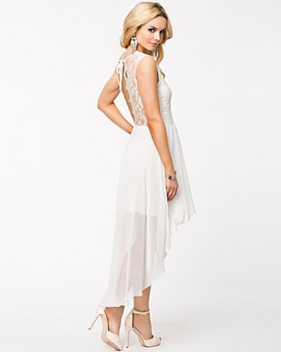 Lace V Back Chiffon High Low Dress John Zack studentklänning till tjejer.
