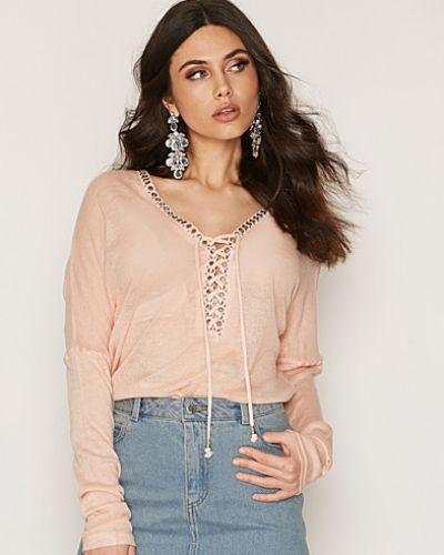 Stickade tröja Lacing Detail Top från NLY Trend