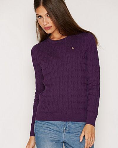 Till dam från Morris, en lila stickade tröja.