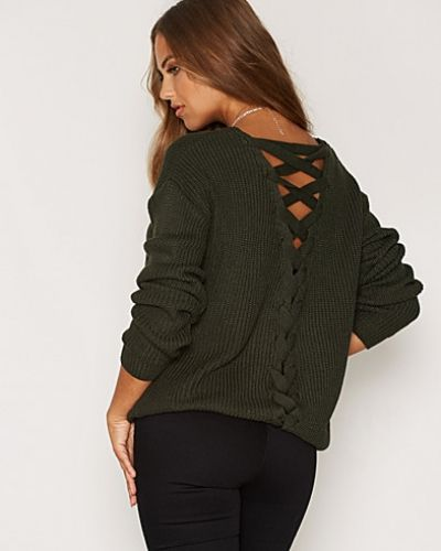 Lattice Back Knit Jumper Miss Selfridge stickade tröja till dam.