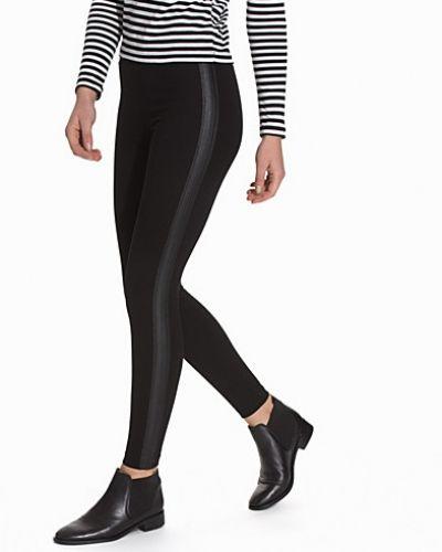 Topshop Leather-Look Side Stripe Leggings