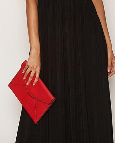 Till tjejer från Rebecca Minkoff, en orange kuvertväska.