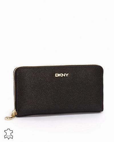 Till dam från DKNY, en svart plånbok.