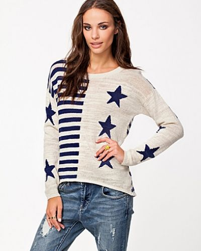 Lina Sweater Hilfiger Denim stickade tröja till dam.