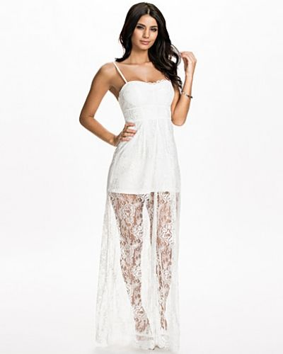 Nly Eve Long Sheer Lace Dress