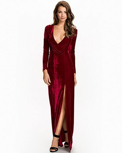Nly Eve Long Sleeve Velvet Gown