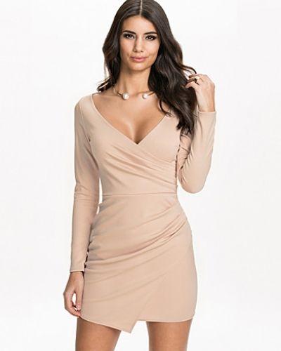 Long Sleeve Wrap Bodycon NLY One långärmad klänning till dam.