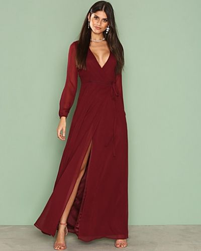 Nly Eve Long Sleeve Wrap Gown