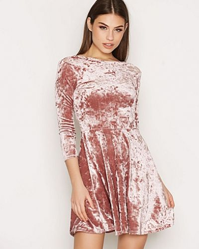 Topshop Low Back Velvet Skater Dress