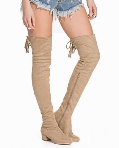 Nly Shoes Low Heel Thigh High Boot