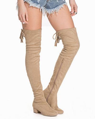Low Heel Thigh High Boot Nly Shoes känga till dam.