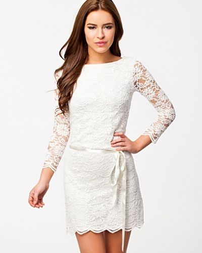 John Zack Low Waist Scalloped Hem Lace Dress