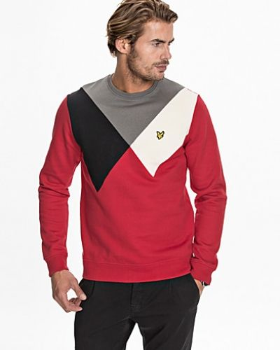 LS Intarsia Y Cut & Sew Sweatshirt Lyle & Scott sweatshirts till killar.
