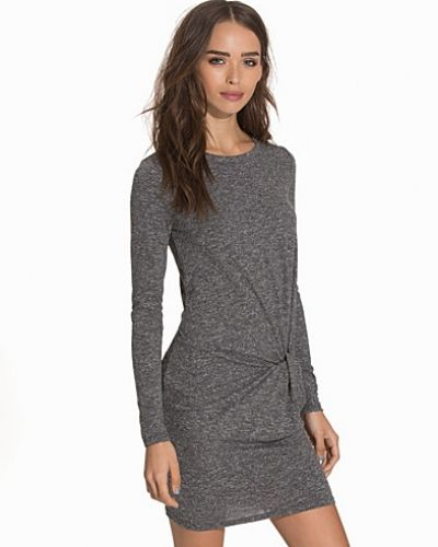 Topshop LS Text Knot Mini Dress