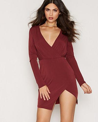 Glamorous LS Wrap V-Neck Dress