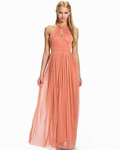 Rare London Lurex Halterneck Maxi Dress