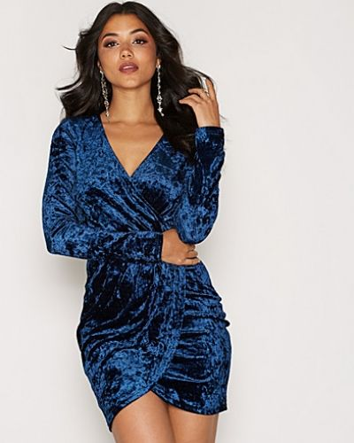 NLY One Lux Velour Wrap Dress