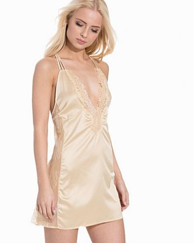 Luxury Satin Night Dress Hot Anatomy nattlinnen till dam.