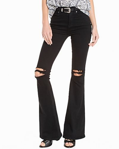 Bootcut jeans Macy Black Ripped Knees från Dr Denim