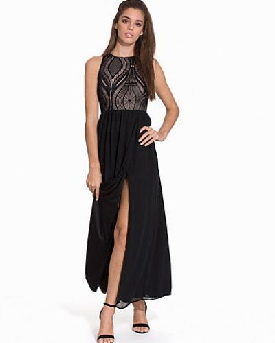 John Zack Maxi Contrast Dress
