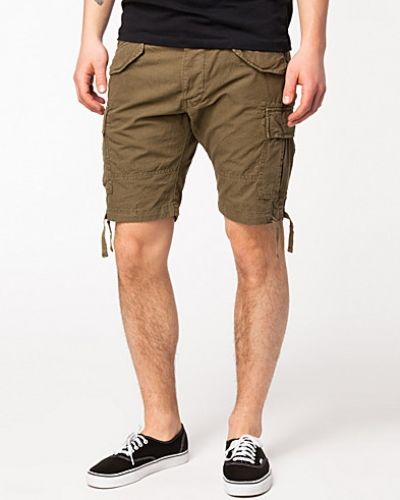 Maze Green Cargo Shorts Selected Homme cargobyxa till herr.