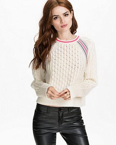 Merino Blend Aran Knit Pullover T By Alexander Wang stickade tröja till dam.