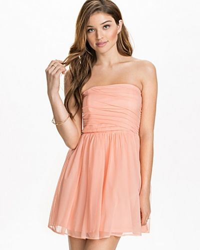 NLY Blush Mesh Bandeau Dress