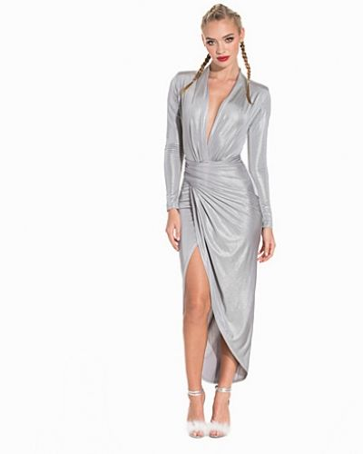 Studentklänning Metallic Drape Maxi Dress från John Zack