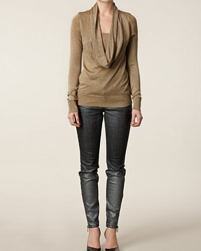 Metallic Foil Skinny Jeans MICHAEL Michael Kors slim fit jeans till dam.