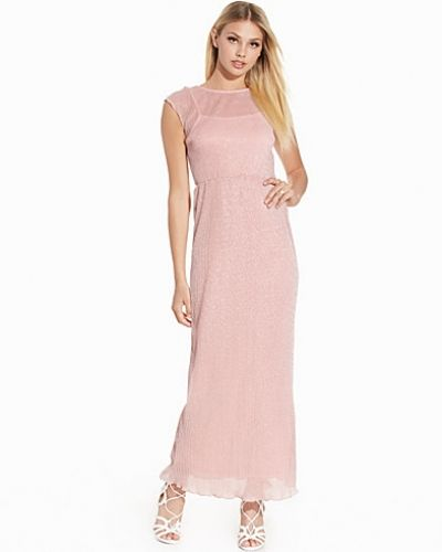 Club L Metallic Pleated Maxi Dress