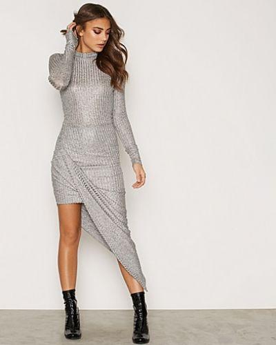 NLY One Metallic Rib Twist Dress