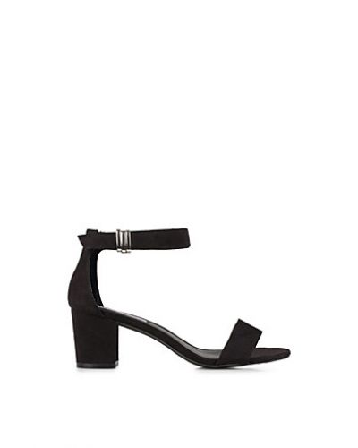 Nly Shoes Mid Heel Buckle Sandal