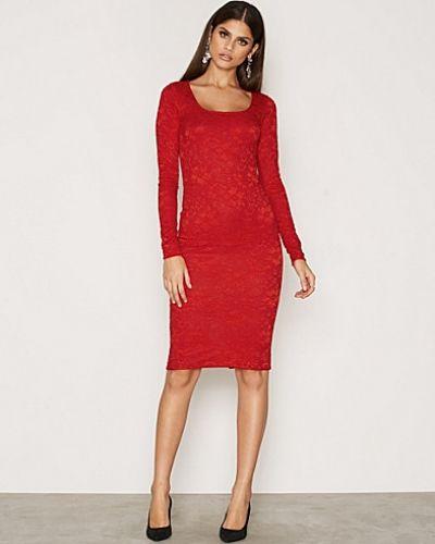 Långärmad klänning Midi Lace Dress från NLY One