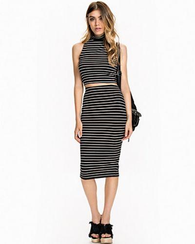 NLY Trend Midi Skirt Stripe Set