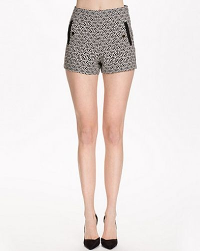 Miss Selfridge Mono Button Shorts