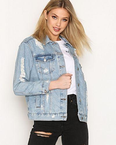 blå jeansjacka dam