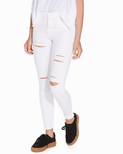 Vit slim fit jeans från Miss Selfridge till dam.