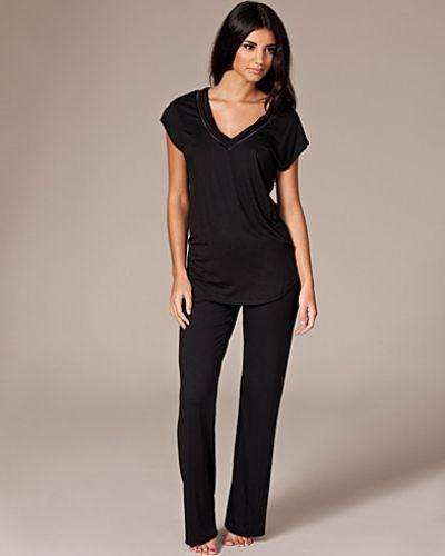 svart pyjamas dam