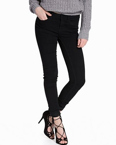 NMLUCY NW ANKLE JEANS BLACK Noisy May blandade jeans till dam.