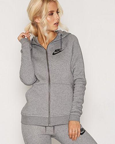 Grå hoodie från Nike till dam.