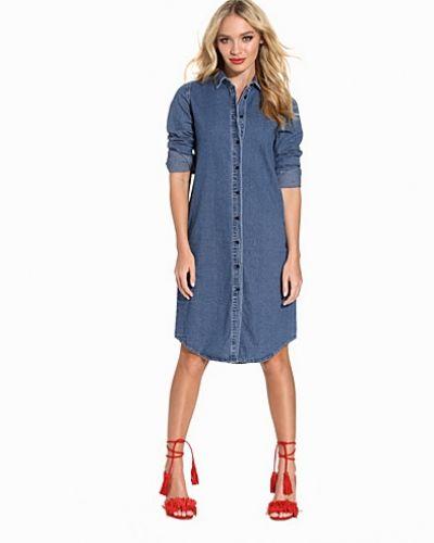 Långärmad klänning OBJMILO L/S DENIM LONG SHIRT ST från Object Collectors Item