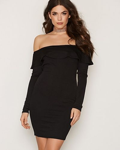 NLY One Off Shoulder Frill Dress