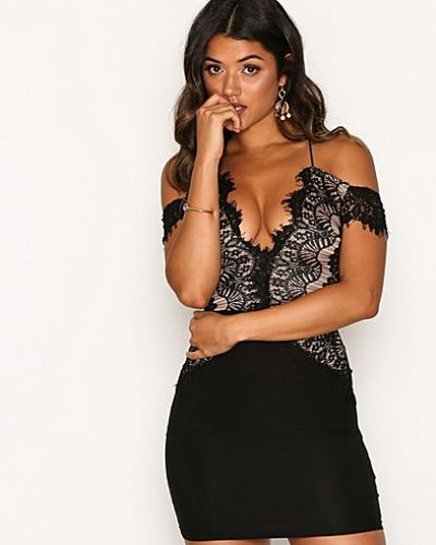 Rare London Off Shoulder Mini Bodycon Dress