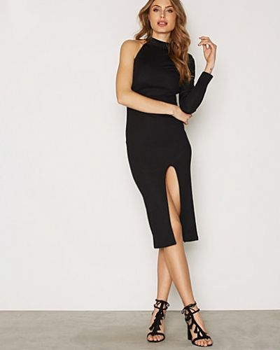 Topshop One Shoulder Ribbed Midi