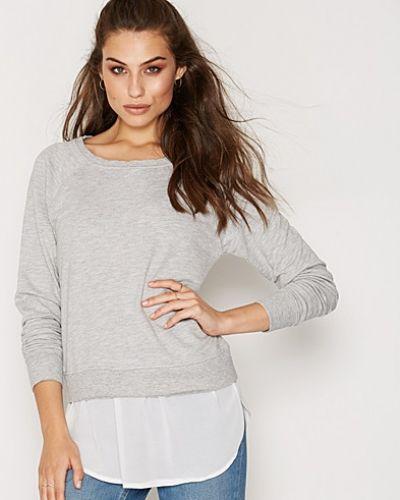 Grå sweatshirts från ONLY till dam.