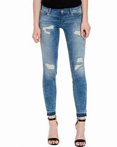 Slim fit jeans onlCARRIE LOW SK ANKLE DNM JEANS RE från ONLY