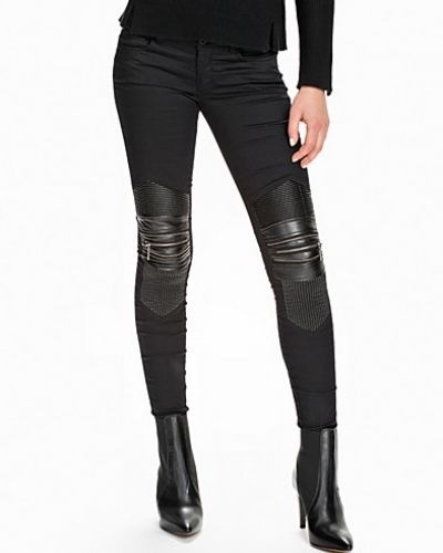 ONLY onlCOURTNEY LOW SK BIKER PU/MIX LEG
