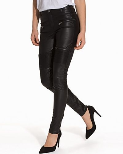 ONLY onlFAN FAUX LEATHER MIX PANTS OTW