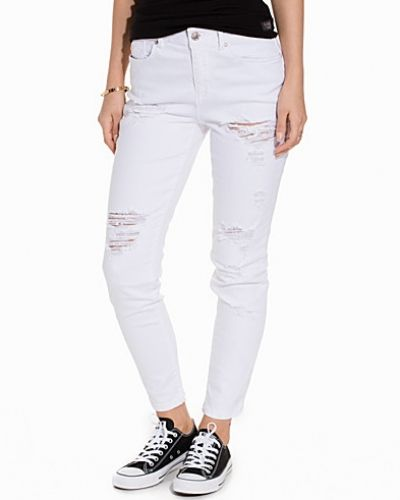 Straight leg jeans onlLIMA ANKLE BOYF DNM JEANS CRE WH från ONLY